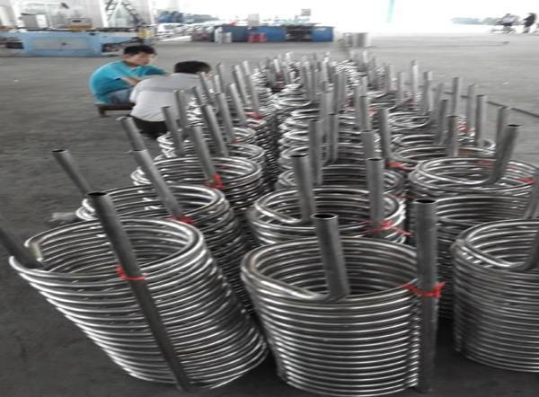 stainless steel tubing coil 1/4 for heat exchanger