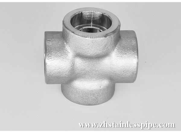 Hige Pressure Socket Welded Forged Stainless Steel Cross Pipe Fittings