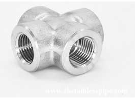 stainless steel forged four way cross threaded pipe fittings