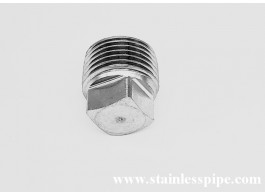 stainless steel forged square solid threaded plug