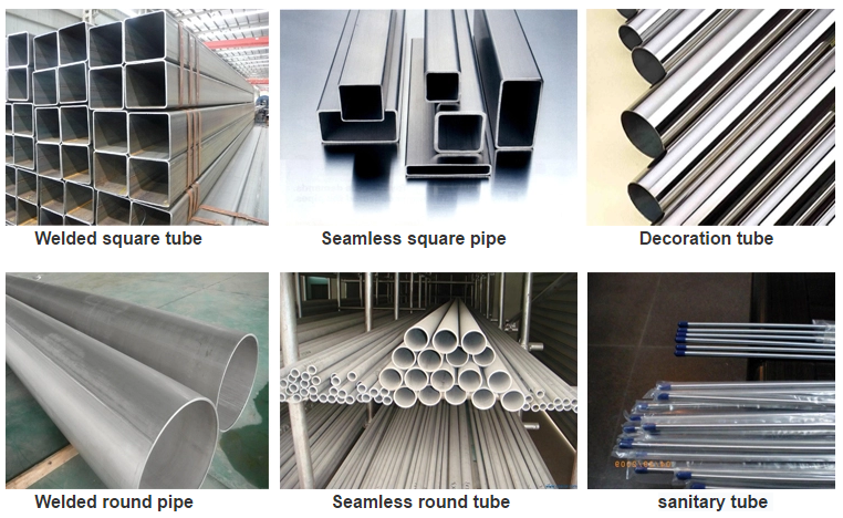 stainless steelpipes types